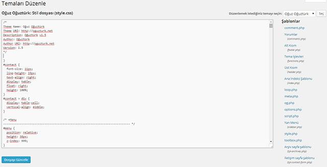 wordpress düzenleyici kapatma