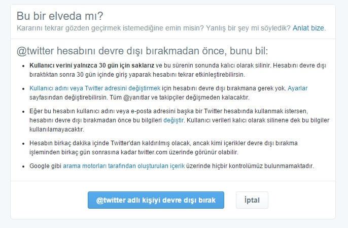 Twitter Hesabı Silme Resimli Anlatım