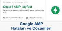 Google AMP Hataları ve Çözümleri